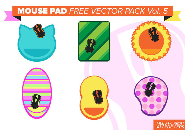 Mouse Pad Free Vector Pack Vol. 5 - бесплатный vector #382597
