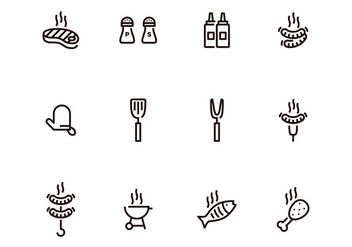 Barbecue Icon Set - vector gratuit #382637
