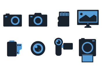 Free Photography Icons - vector #382717 gratis