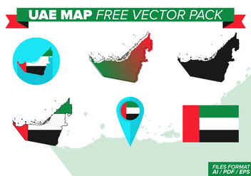 UAE Map Free Vector Pack - Kostenloses vector #382937