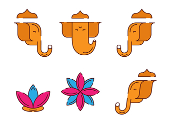 Ganesh Figure Set - vector gratuit #383007