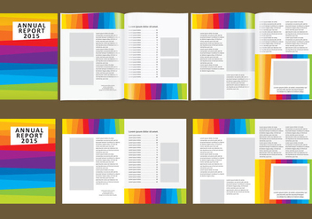 Colorful Annual Report - Kostenloses vector #383017