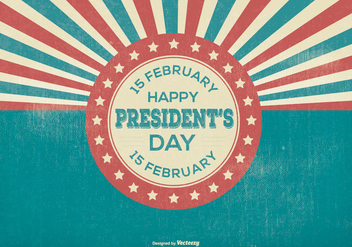 Retro Presidents Day Illustration - vector gratuit #383037