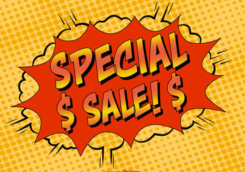 Comic Style Special Sale Illustration - Free vector #383057