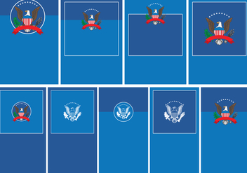 President Seal Template Set - vector #383087 gratis