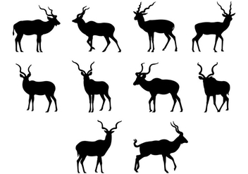Kudu Silhouettes Vector - Free vector #383097