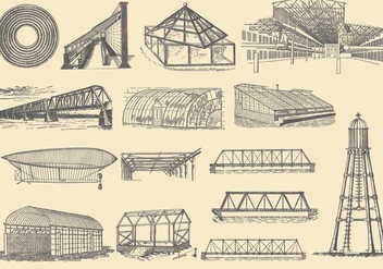 Iron Structures - vector gratuit #383197