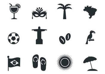 Free Brazil Icons Vector - Free vector #383217