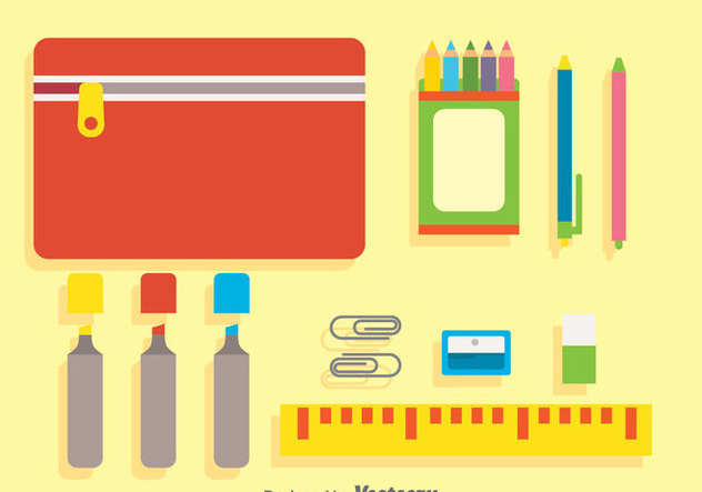 Stationary Flat Icons - vector #383347 gratis