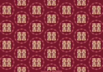Free Double Happiness Seamless Pattern - бесплатный vector #383407