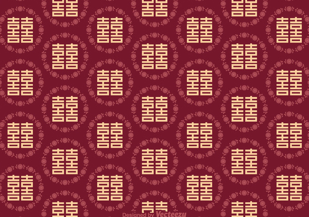 Free Double Happiness Seamless Pattern - vector gratuit #383407