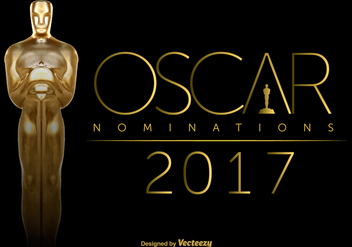 Vector Oscar Statuette On Black Background - Free vector #383447