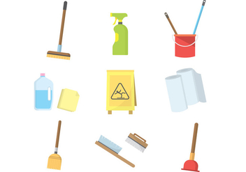 Free Cleaning Icons Vector - vector gratuit #383527