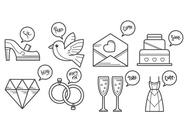Free Wedding Icon Vector - Free vector #383587