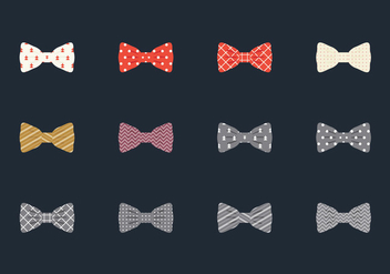 Illustration Set Of Bow Tie - vector gratuit #383607