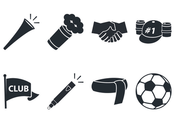 Soccer Fan Icon - Free vector #383637