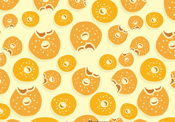 Bagel Pattern Background - vector gratuit #383677