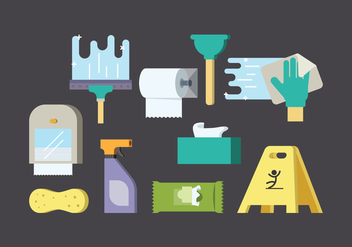 Free Cleaning Supplies Vector - бесплатный vector #383687