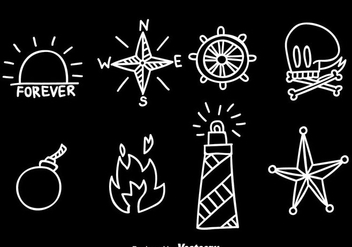 Hand Drawn Old School Tattoo Vector - Free vector #383717