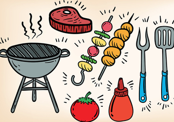 Free Brochette Icons Vector - vector gratuit #383777