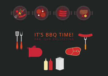Brochette Icon Set - vector gratuit #383787
