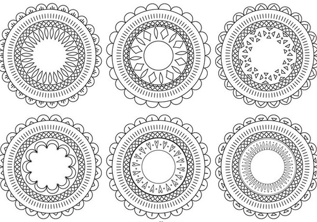 Decorative Flower Shapes - vector gratuit #383847