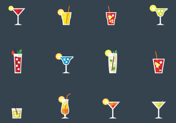 Alcohol Drinks And Cocktails - Free vector #383857