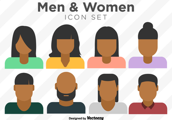 Vector Set Of Colorful Person Icons - Kostenloses vector #383997