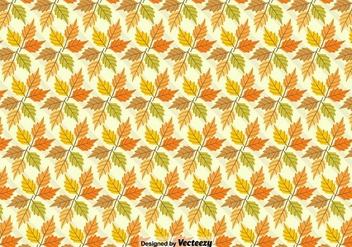Vector Autumn Background With Maple Leaves - vector gratuit #384007