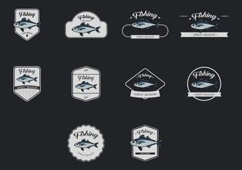 Mackerel Template Icon Set - vector gratuit #384027