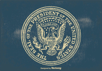 Vintage Presidential Seal Illustration - бесплатный vector #384037
