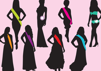 Pageant Silhouettes - бесплатный vector #384087