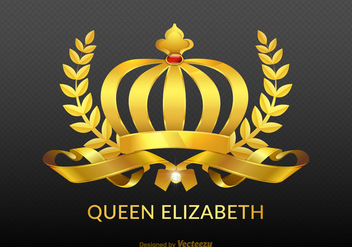 Free Vector Golden Royal Crown - vector gratuit #384097