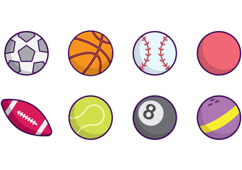 Free Sports Ball Vector - vector #384107 gratis