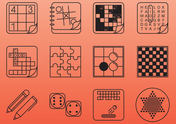 Board And Table Game Icons - vector #384177 gratis