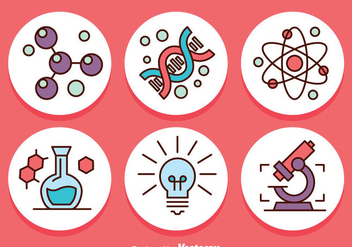 Science Circle Icons Vector - vector gratuit #384277