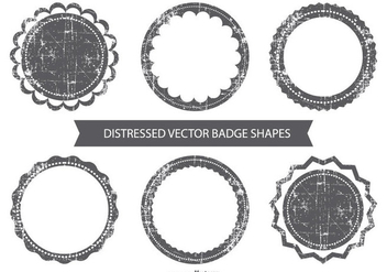 Grunge Vector Badges - vector #384297 gratis