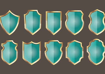 Blason shield icons - Free vector #384347