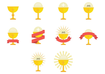 Eucharist Icon - vector #384417 gratis