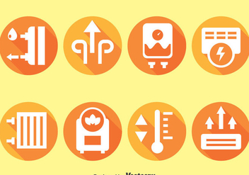 Heater Cirle Icons - Free vector #384427