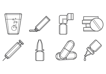 Free Drugs Form Icon Vector - vector gratuit #384447