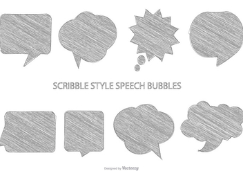 Sketchy Speech Bubbles - бесплатный vector #384457