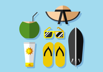Vacation Vector Beach - vector gratuit #384527