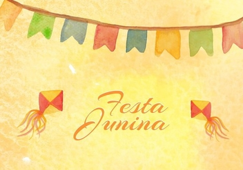 Free Vector Junina Watercolor Background - бесплатный vector #384577