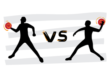 Free Dodgeball VS Tournament Vector Poster - Free vector #384597