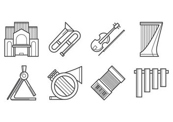 Free Music Instrument Icon Vector - vector gratuit #384617