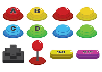 Arcade Button Vector - бесплатный vector #384667