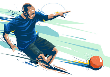 Dodgeball Player Painted Vector - бесплатный vector #384687