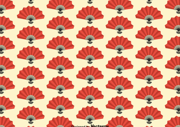 Free Spanish Fan Seamless Pattern Vector - Kostenloses vector #384707