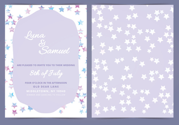 Vector Star Filled Wedding Invite - бесплатный vector #384767